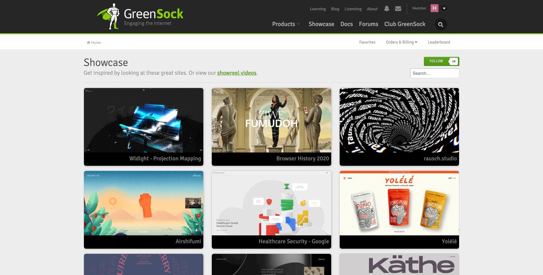 Showcase of sites using GreenSock Animation Platform