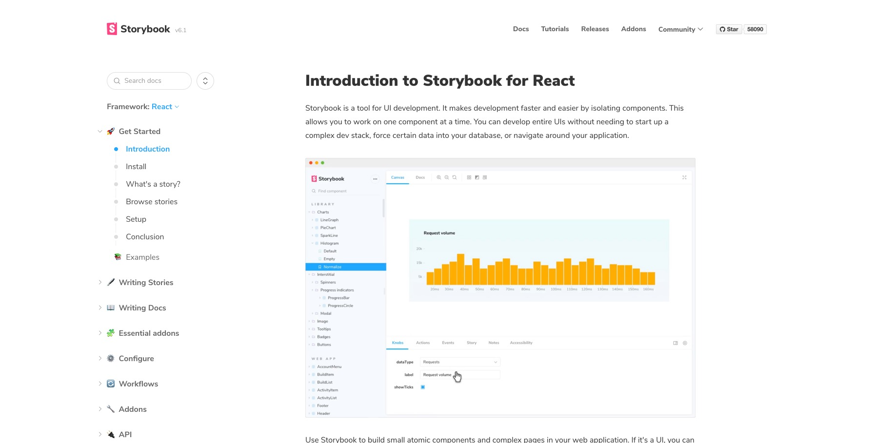 Storybook.js home page