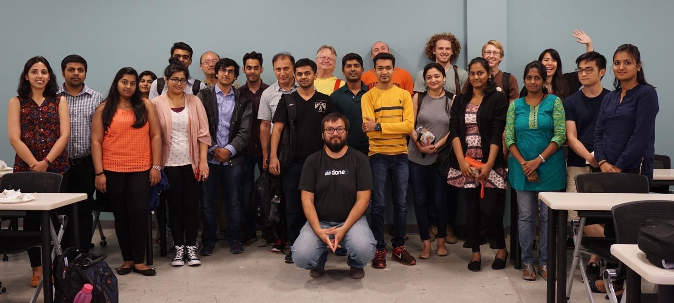 Group photo at a meetup