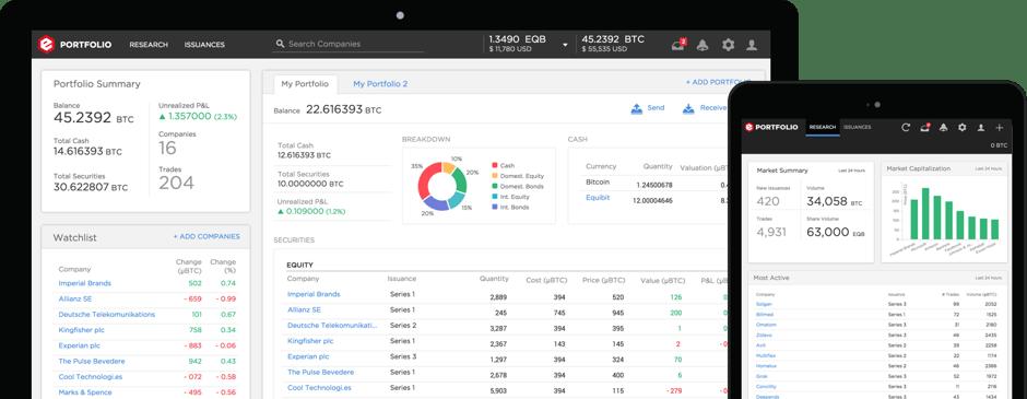 Equibit App Screen Shots
