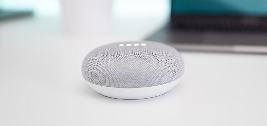 Smart speakers like Google Nest Mini require minimum physical effort to operate