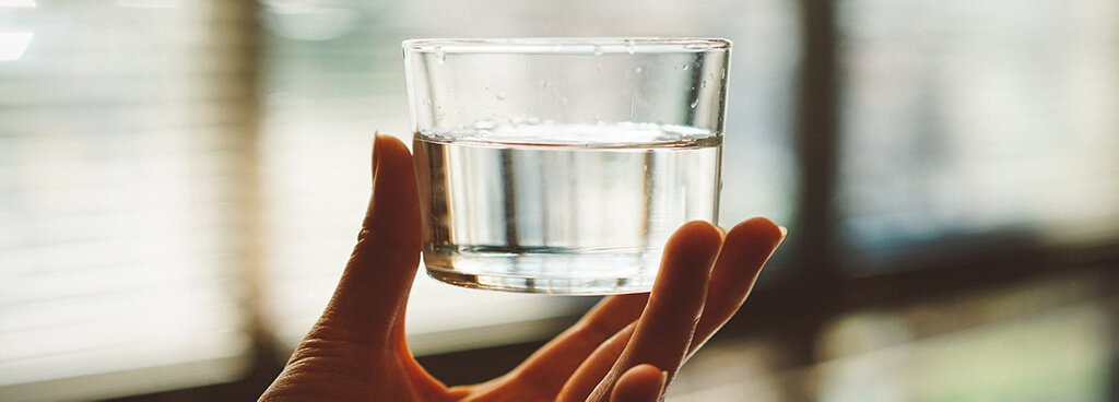 The amount of water in a glass can be seen, felt, or even heard (if you run a wet finger along the rim)