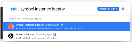 Sketch Runner results for install symbol instance locator command