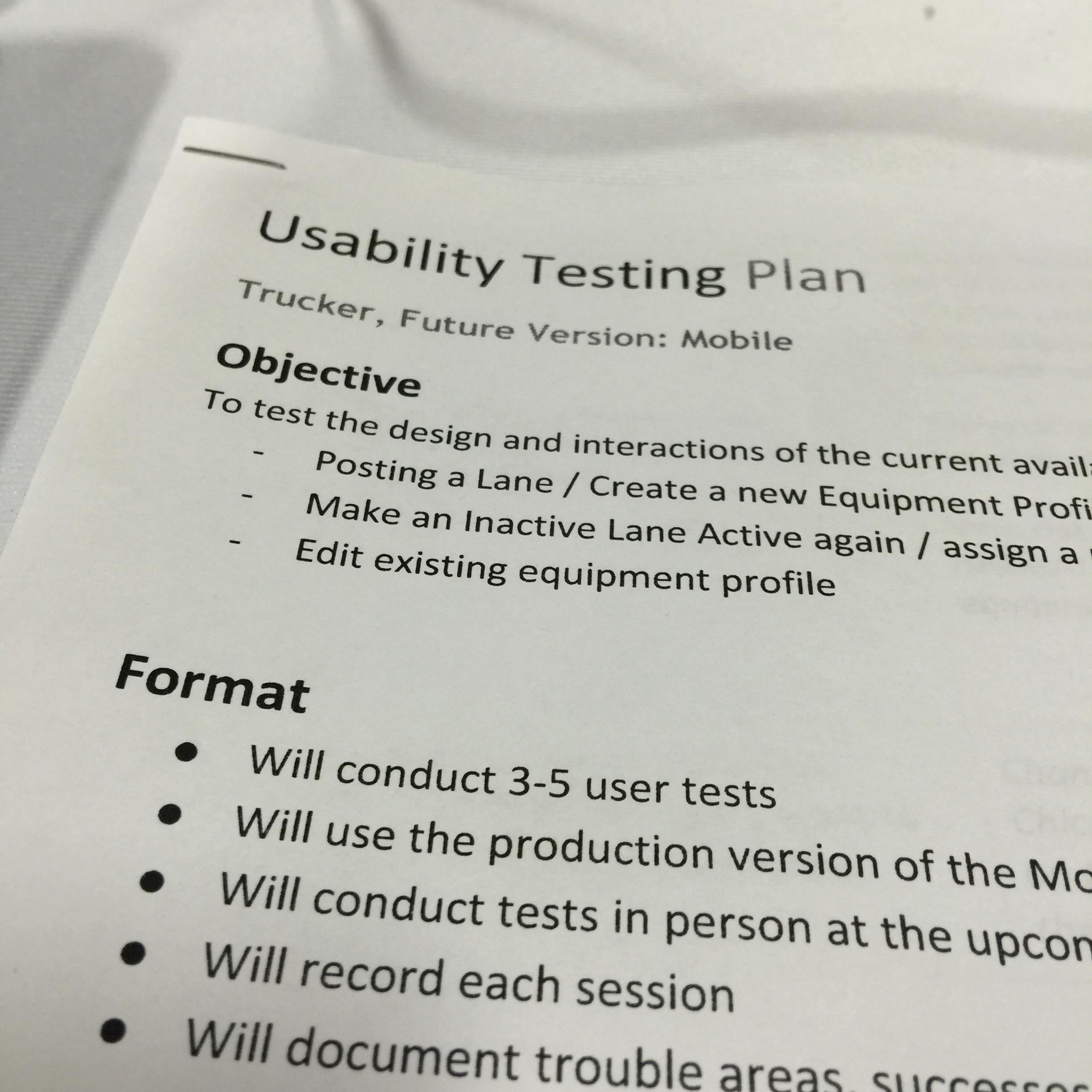 Develop a plan when conducting your usability testing