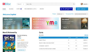 Brodart Bibz home page with book recommendations
