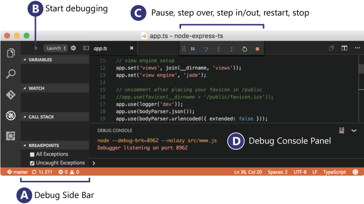 Tour the Visual Studio Code Debugger