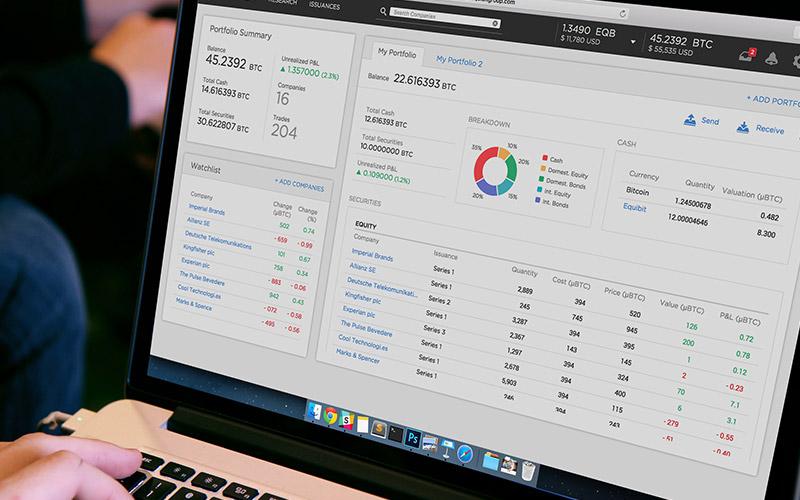 Equibit Portfolio App