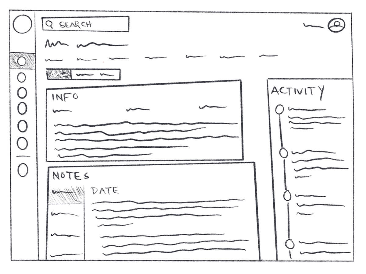 Example of a sketched whiteboard concept
